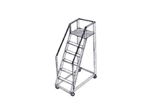 Aluminum Trolley Step Ladders1